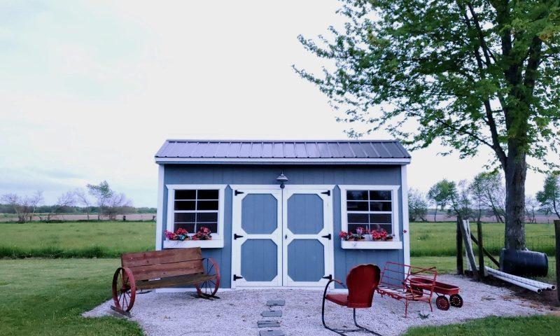 Backyard play sheds