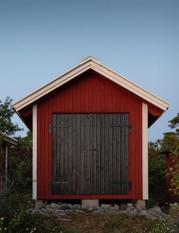 metal or wooden shed