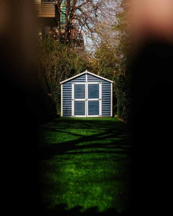 where to place a shed in your backyard